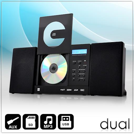 DUAL-DESIGN-HIFI-MINI-STEREO-ANLAGE-MP3-CD-PLAYER-RADIO-USB-SD-AUX-WANDMONTAGE