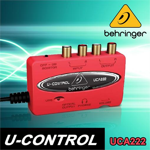 BEHRINGER-UCA222-USB-AUDIO-INTERFACE-SOUNDKARTE-EXTERN-DIGITAL-ANALOG-WANDLER