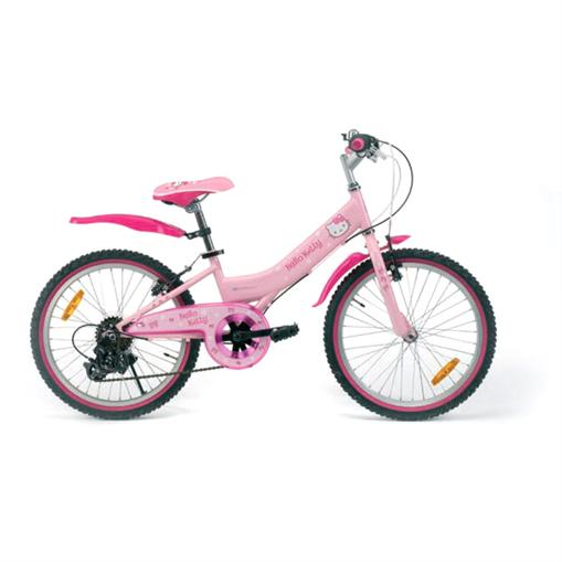 HELLO-KITTY-MOUNTAINBIKE-KINDERFAHRRAD-51cm-20-ZOLL-CITYRAD-FAHRRAD-6-GANG-PINK