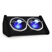 "Auna Subwoofer doble 2 x 25cm (10"") Efectos LED 1600W"