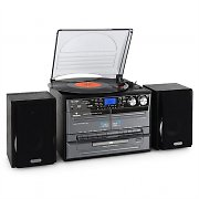 Auna Mini chaîne HiFi CD USB platine stereo k7 encodage MP3