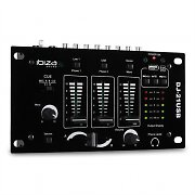 Ibiza DJ-21 3/2-Kanal Mischpult Mixer USB Talkover Party