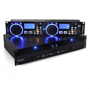 Ibiza Global DJ Doppel CD Player 2x USB 2x SD MP3 Scratch