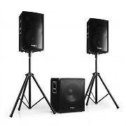 2.1 aktives PA Set 1xSubwoofer 2xSatellit 2xStativ 800W