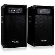 Ibiza DP-235N Set kolumn 25cm Master-Slave 1400W USB MP3