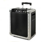 Mobile DJ-PA-Anlage Skytec Trolley USB-SD-MP3 Akku