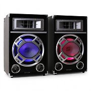 Skytec Altavoces PA USB SD MP3 Efecto luz LED 500W