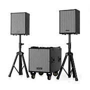 2.1 PA-Set 30cm 1x Subwoofer 2x Box Stative Trolley