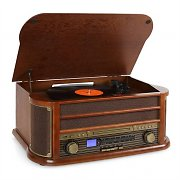 Auna Belle Epoque 1908 Retro-Microanlage USB CD MP3 Vinyl