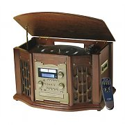 Inovalley Retro11 Retro Hifi System CD Player/Brenner Tape UKW Holzgehäuse