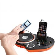 Clip Sonic BX1018 DJ Scratch Mixer iPhone iPod 2x AUX