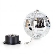 oneConcept Mirror-Ball-XL Boule disco LED 20cm RGBY