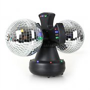 oneConcept Mirror-Ball Double boule disco 2 x 13cm RVBY