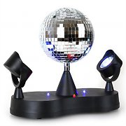 "oneConcept Twin LED Project Boule disco 5"" RVB"