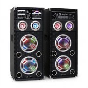 Skytec KA-26 aktives Karaoke-PA-Lautsprecher Set USB SD AUX