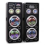 Skytec KA-28 aktives Karaoke-PA-Lautsprecher Set USB SD AUX