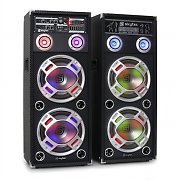 Skytec KA-210 aktives Karaoke-PA-Lautsprecher Set USB SD AUX