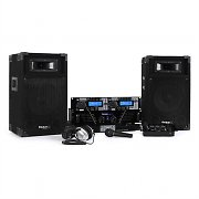 Ibiza DJ500-MKII DJ Set Dual Cd Player Amp 3-Kanal-Mixer Boxen 480W