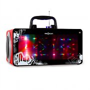 oneConcept Luminos Multimedia-Boombox USB SD MP3 AUX UKW rot