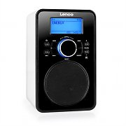 Lenco IR-2002 Internet Radio Weiß WLAN LAN AUX iPhone i Pod