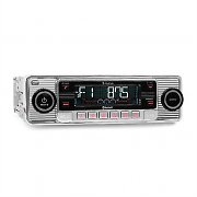 Auna TCX-1-RMD-Sender-Two Autoradio silber Bluetooth USB SD MP3 CD Retro
