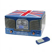 Inovalley Retro03N-UK Impianto stereo Union Jack CD USB FM