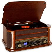 auna Belle Epoque 1908 Retro-Stereoanlage Bluetooth USB CD MP3