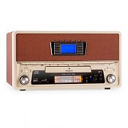 auna NR-550-B Retro Stereoanlage Bluetooth USB SD MP3 CD AUX UKW/MW