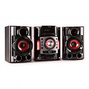 Auna MCD-84 impianto stereo multimediale bluetooth DVD rosso