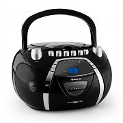 auna Beeboy Ghettoblaster CD MP3 USB schwarz