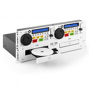 resident dj JY-2CD double lecteur CD Cue Pitch Rack -blanc