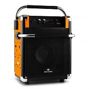 Malone Rock Fortress PA-Anlage USB Bluetooth UKW-Radio AUX 50W max. orange