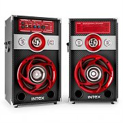 Intex DJ-601K Coppia altoparlanti audio karaoke USB SD