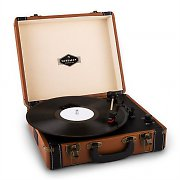 Auna Jerry Lee Retro-Plattenspieler LP USB braun