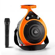 auna Bassdrop mobiler PA-Lautsprecher Bluetooth USB Akku 60W - orange