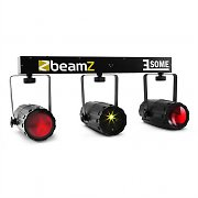 BeamZ 3-some Set d'effets de lumières LED RVBB Laser multipoints et microphone