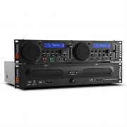 Power Dynamics PDX115 Dual DJ-CD-Player-Controller CD UBS SD MP3 Rack-fähig