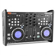 Power Dynamics PDX125 table de mixage controleur 2 canaux lecteur CD Dual-DJ USB SD MP3
