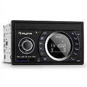 auna MD-210 BT RDS Autoradio Bluetooth USB SD MP3 Mikrofon 2-DIN 4x75W