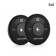 Capital Sports Elongate 10 Set de bumper plates