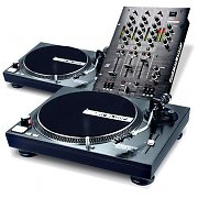 "Set DJ ""Julia Creek"", 2 platines vinyle, 1 mixer"