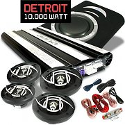 """Detroit"" Kit Car HiFi Sistema 4.1 Col. 10.000W Amplificaor"
