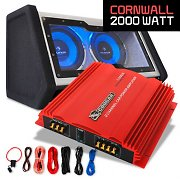"Car Hifi Set ""Cornwall"" 0.1 systeem 2000W bassbox & eindversterker"