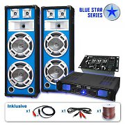 "Set sono DJ PA blue star series ""basskern USB"" 2800Watt"