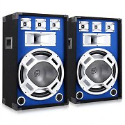 Kit DJ PA 2 Enceintes Passives HP LED 1600W sono subwoofer 15""
