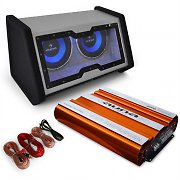 "auna Car Hifi Set ""Bassophant"" 0.1 Set Endstufe Subwoofer"
