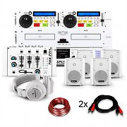 Conjunto Hifi  con reproductor CD doble 1200W  blanco USB SD