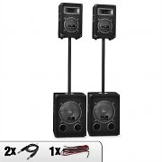 Malone 2.2 alturas Equipo PA 2x 600W Subwoofer & 2x 250W Altavozes PA