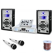 "Set DJ PA ""Polar Fox"" Table de Mixage Ampli Enceintes 1500W"