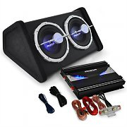 "Car Hifi Set ""Black Line 140"" Subwoofer amplificador 2800W"
